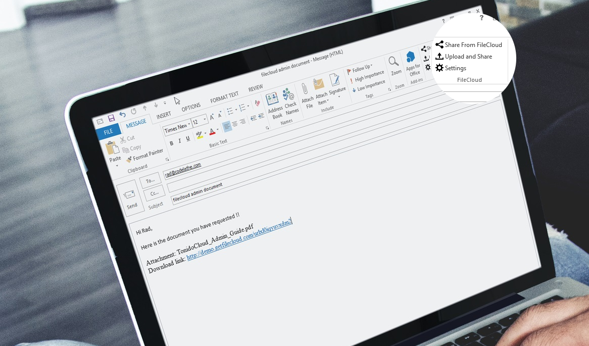 FileCloud Office Integration – Office Online, Office Add-ons